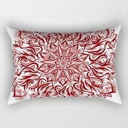 Fire-Garnet Rectangular Pillow