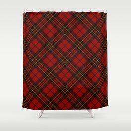 Adorable Red Christmas Tartan Shower Curtain