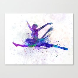 Woman ballerina ballet dancer dancing Canvas Print