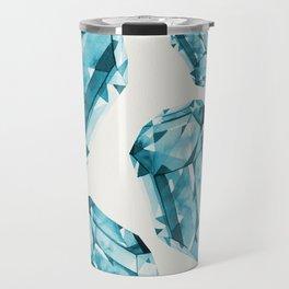 Falling Crystals - Aqua Travel Mug