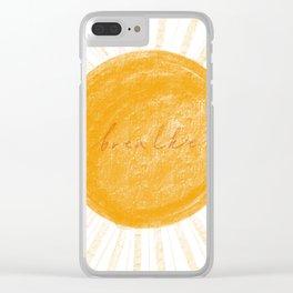 Breathe sun Clear iPhone Case