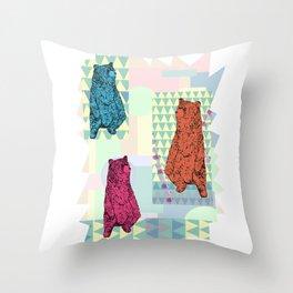 Cute little bears Throw Pillow