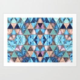 Boho Triangle Pattern Art Print