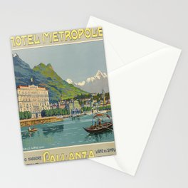 Werbeposter Pallanza voyage poster Stationery Cards