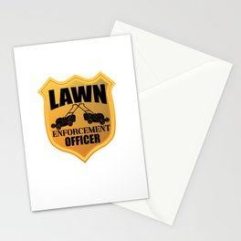 Lawn Enforcement Officer Gardening Lawn Mower Funny Gift Stationery Cards
