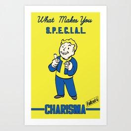 Charisma S.P.E.C.I.A.L. Fallout 4 Art Print