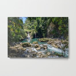 Waterfalls at Semuc Champey Metal Print