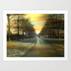 A winters day. Art Print