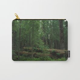 Fallen Tree in The Dense Forest Carry-All Pouch
