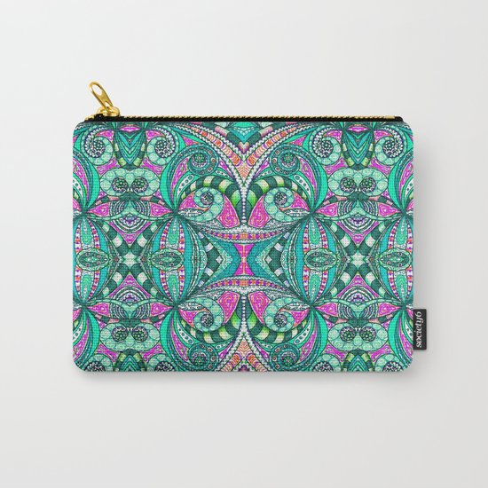 Drawing Floral Zentangle G207 Carry-All Pouch