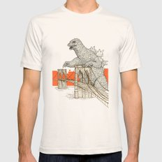 Godzilla vs. the Brooklyn Bridge Mens Fitted Tee MEDIUM Natural