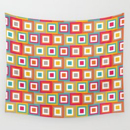 Aztec Squares Wall Tapestry