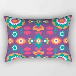 Colorful Bohemian Suzani Inspired Pattern Rectangular Pillow