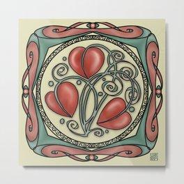 Hearts on a vine Metal Print