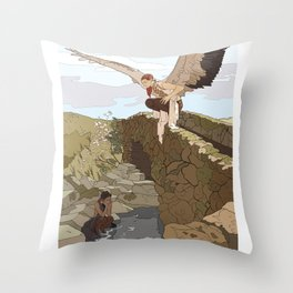 Angel in the Countryside Throw Pillow