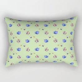 Tea Lovers Green Rectangular Pillow