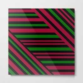 Geometric pattern. Striped triangles 4 Metal Print
