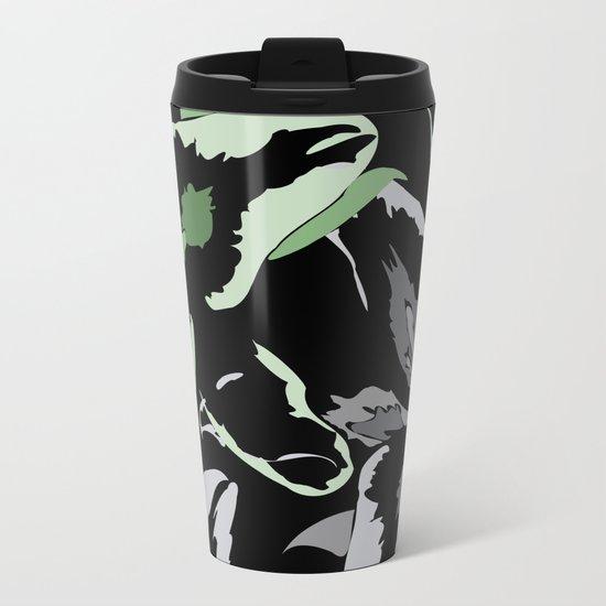 FLORAL ABSTRACTION Metal Travel Mug