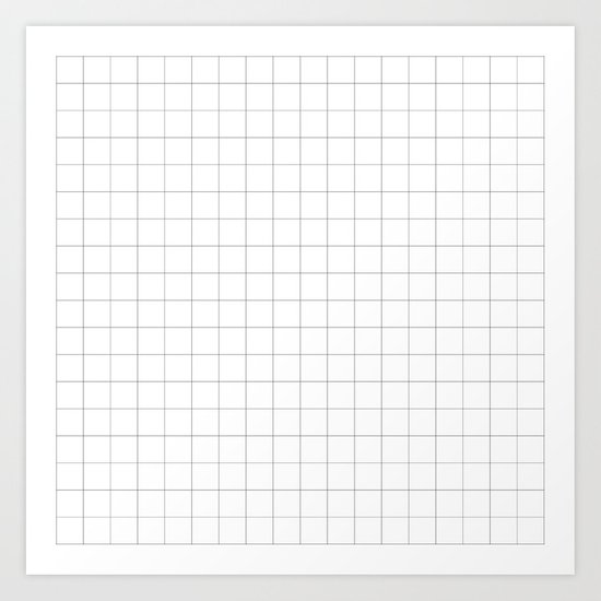 The Minimalist: White Grid by sunmoonandfireflies
