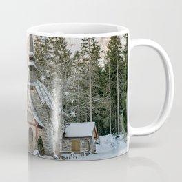 Cappella lago di Braies Coffee Mug