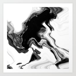 Digital Wave Art Print