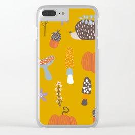 Atumn happy Clear iPhone Case