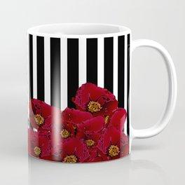 Poppy Stripes - Red Coffee Mug