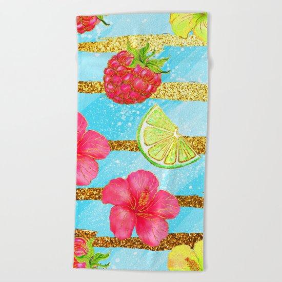 Summer Glitter #3 Beach Towel