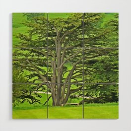 Old English Tree Wood Wall Art