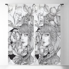 JennyMannoArt GRAPHITE DRAWING/SAGE Blackout Curtain