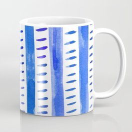 Watercolor lines - blue Coffee Mug