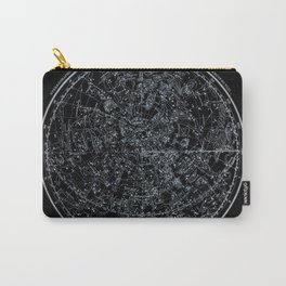 Northern Hemisphere Constellations White Blue Carry-All Pouch