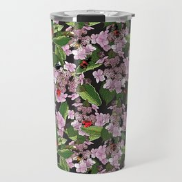 Floral insects pattern Travel Mug