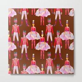 Nutcracker Ballet - Chocolate Brown Metal Print
