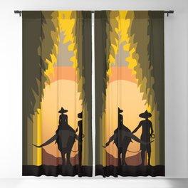 Sunset Thailand Blackout Curtain