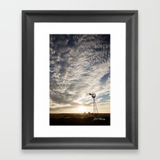 Sandhills Windmill @ Sunset Verticle Framed Art Print