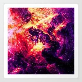 Cosmic mandala #7 Art Print