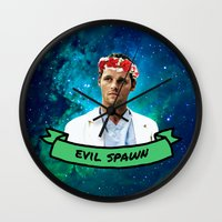 spawn Wall Clocks featuring Evil Spawn by drmedusagrey