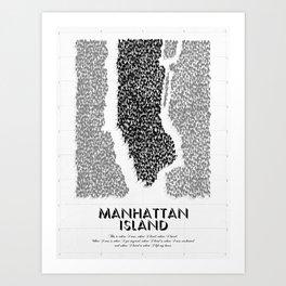 Manhattan Island Art Print