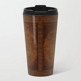 Antique Steampunk Compass Rose & Map Travel Mug