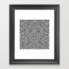Abstract Lace on Black Framed Art Print