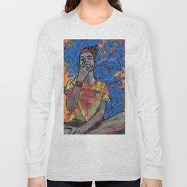 Dudu Ignites the Blue Flame Long Sleeve T-shirt