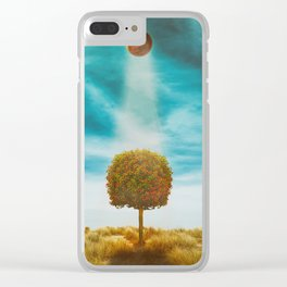 Earth Reflection of Universe Clear iPhone Case