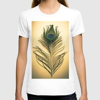 peacock feather T-shirts featuring Peacock Feather by Yorkwaypictures