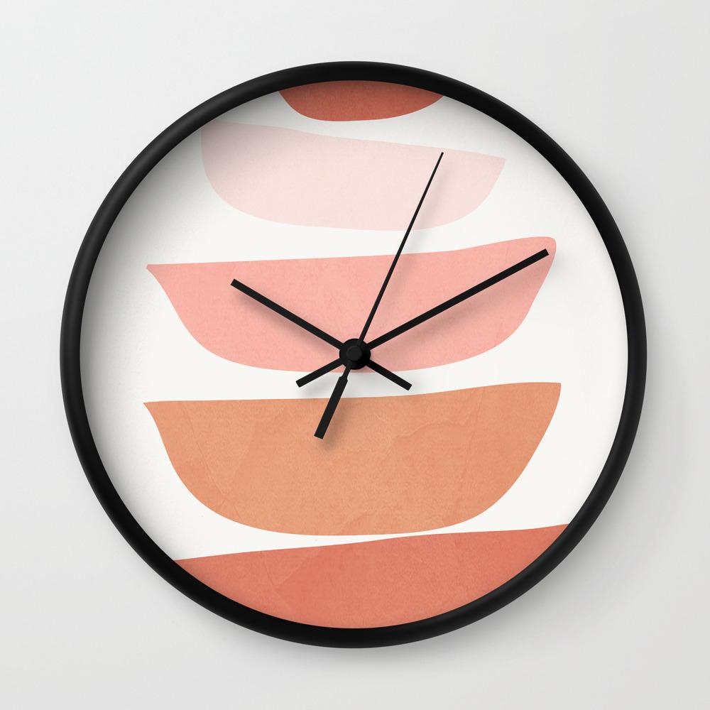 Abstract Minimal Shapes Iv Wall Clock By Cityart7 Society6