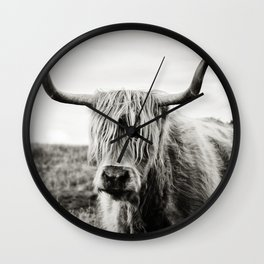 Highland Cow Wall Clock