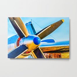 Twin propellers of a vintage aircraft Metal Print