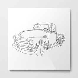 Antique Succulent Pick-up Truck - 1955 First 1st Series Chevy Metal Print