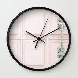 Palm Springs Pink Door Wall Clock