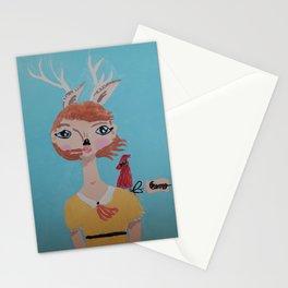 ~ Deer and Cardinal ~ 10 Year Old Amelia's Arizona Critter Girl ~ Deer and Cardinal ~ Stationery Cards